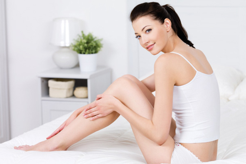 Woman-with-fresh-shaved-legs
